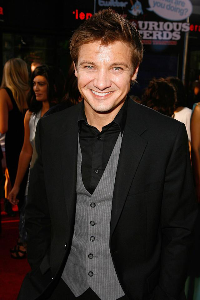 """<a href=""""http://movies.yahoo.com/movie/contributor/1804495026"""">Jeremy Renner</a> at the Los Angeles premiere of <a href=""""http://movies.yahoo.com/movie/1808404206/info"""">Inglourious Basterds</a> - 08/10/2009"""