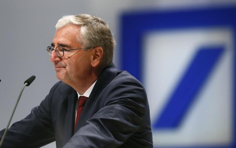 Achleitner, head of the supervisory board of Deutsche Bank AG speaks during a shareholders meeting in Frankfurt
