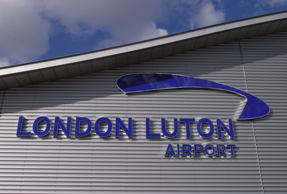 The street is a ten-minute drive away from Luton Airport (Picture: Rex)
