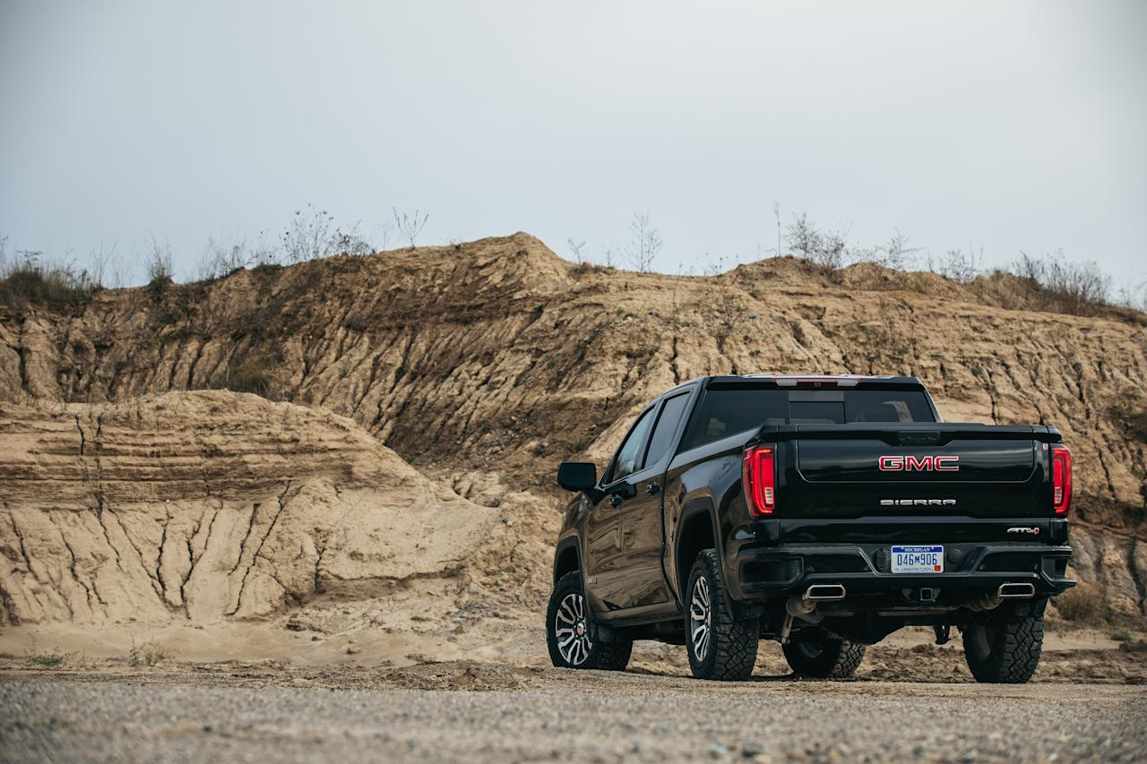 """<p>Intro: The GMC Sierra 1500 is all new for 2019 and is still available with a powerful 6.2-liter V-8 in its top trim levels, the Denali and AT4. Read the full story <a href=""""http://www.caranddriver.com/reviews/a26147234/2019-gmc-sierra-4x4-crew-cab-6-2l-by-the-numbers/"""" target=""""_blank"""">here</a>.</p>"""