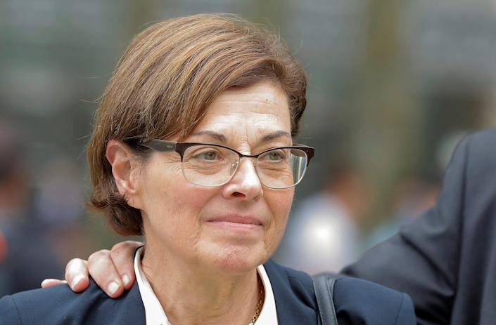 Nancy Salzman, exits following a hearing on charges in relation to the Albany based organization Nxivm at the United States Federal Courthouse in Brooklyn at New York..JPG