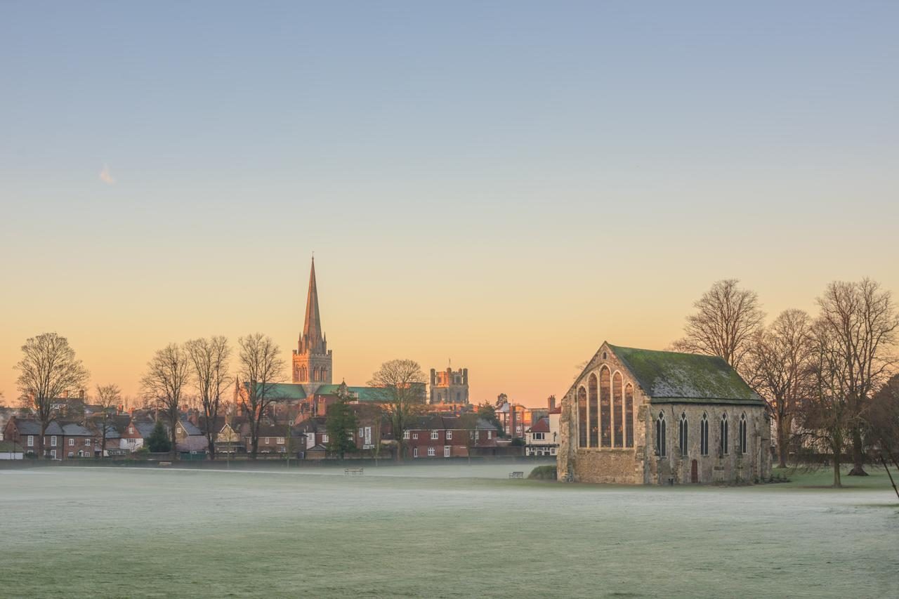 <p>Chichester in West Sussex completes the top 10 happiest towns. In the past year, house prices in Chichester were 3% up on the year before to £375,744, and 17% up on 2014, when they averaged £321,819. (Benjamin Graham/Barcroft Images via Getty Images) </p>
