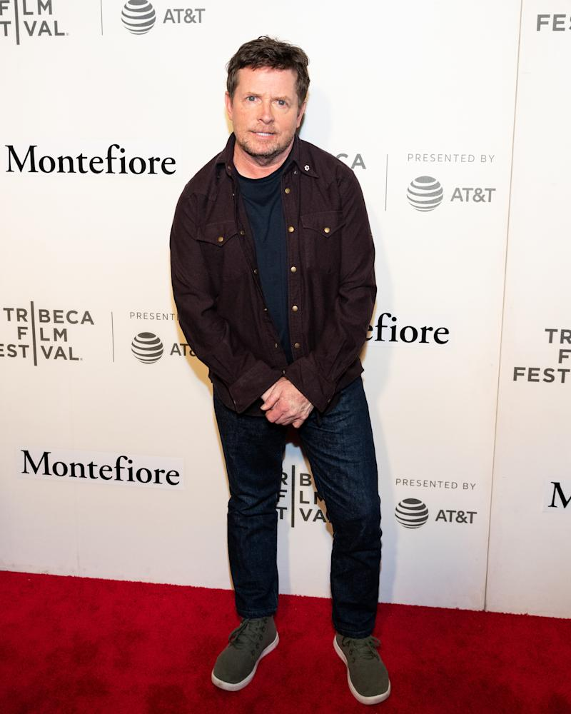 NEW YORK, NY, UNITED STATES - 2019/04/30: Michael J. Fox seen on the red carpet for Tribeca Talks, Storytellers, Michael J. Fox with Denis Leary during the Tribeca Film Festival at The Stella Artois Theatre in New York. (Photo by Michael Brochstein/SOPA Images/LightRocket via Getty Images)