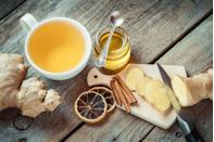 """<p>Look no further for a remedy which Dr Emeka guarantees will make you feel a whole load better.<br><br>According to the 24-year-old, """"Ginger tea is great at soothing the stomach. It also speeds up alcohol digestion and it can even help your throbbing head.""""<br><br><strong>Ingredients</strong><strong><br></strong>12 large ginger slices<br>A dash of lemon<br>1/2 cup of honey<br>Fresh orange juice<br>4 cups of boiling water<br><br><em>[Photo: Getty]</em> </p>"""