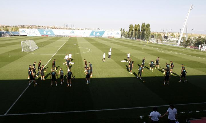 L'allenamento del Real Madrid