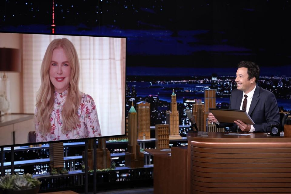 """Nicole Kidman and host Jimmy Fallon play """"The Neverwed Game"""""""