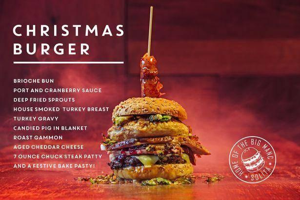 Solita Bar & Grill Christmas Burger