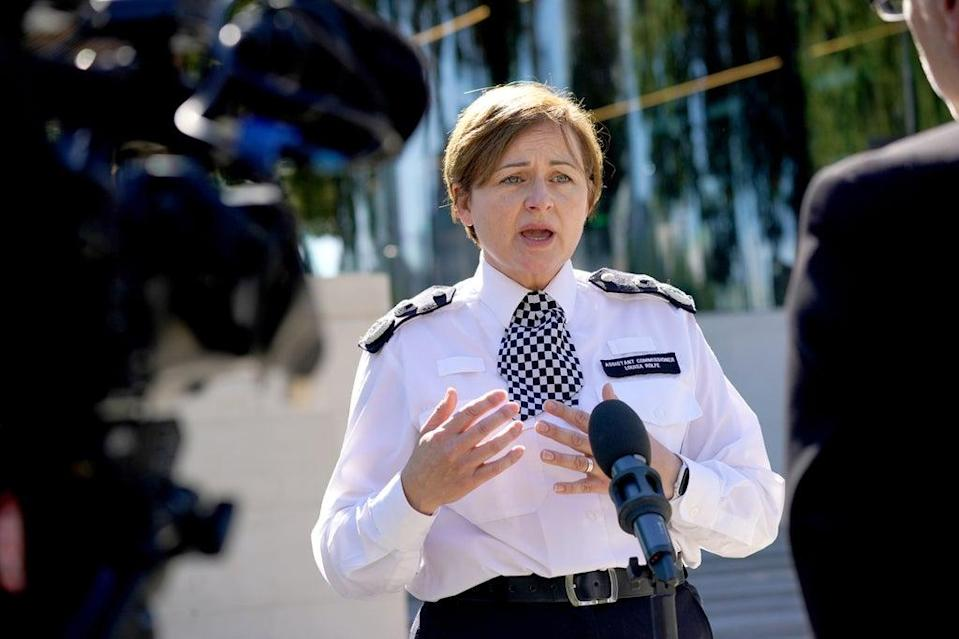 Metropolitan Police Assistant Commissioner Louisa Rolfe speaks to the media outside New Scotland Yard (PA)