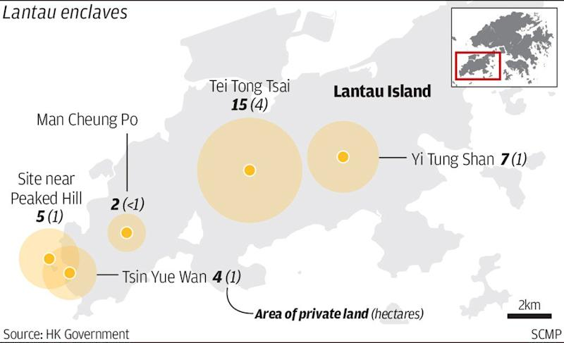 More than 30 hectares of Lantau Island enclaves could become parts of country park under Hong Kong government moves