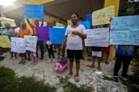 Residents protest against pig farms in the Yucatan