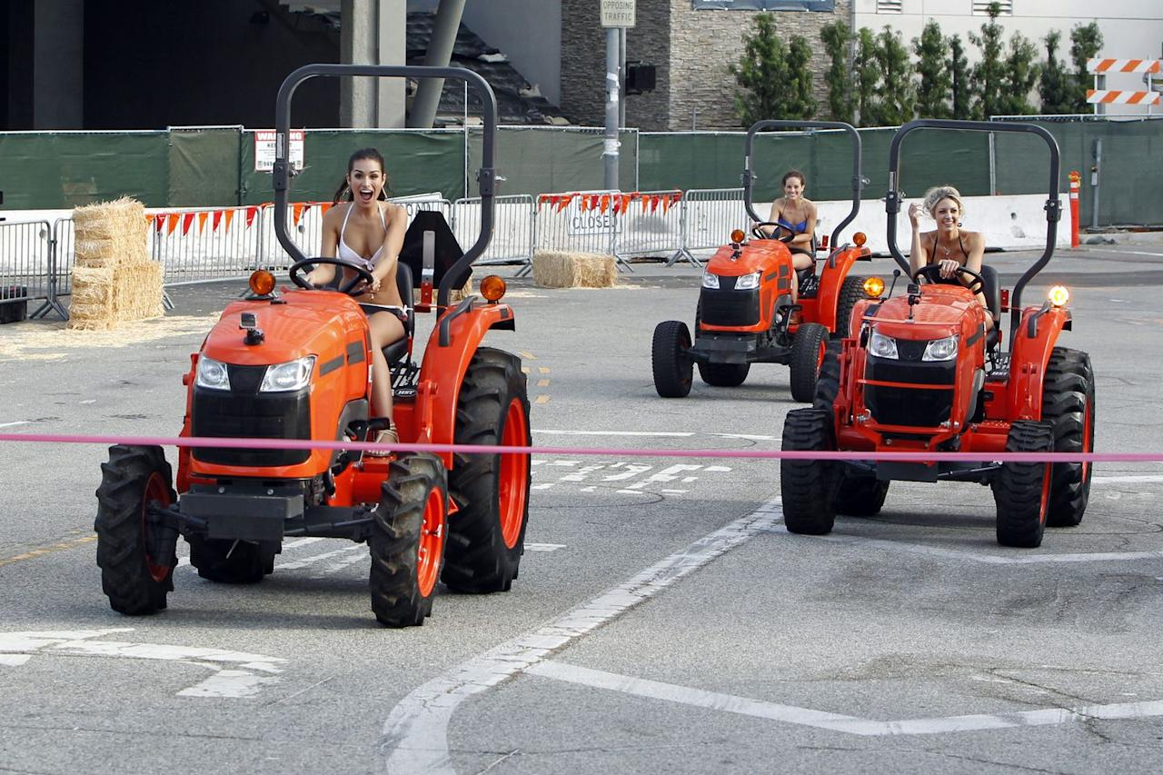 "<p>Chris Soules' whole shtick was that he's a farmer (he was dubbed ""Prince Farming""), so the show decided it would be a great idea to have the contestants race tractors on a group date...through the streets of downtown Los Angeles...in bikinis.</p>"