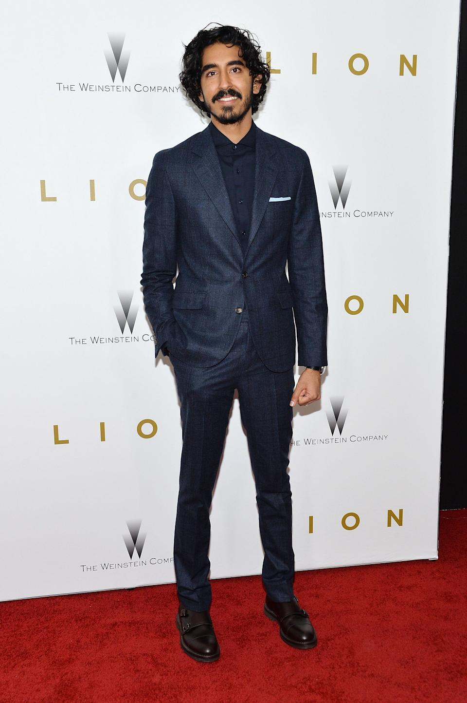 "Patel at the ""Lion"" premiere at the Museum of Modern Art in New York City on Nov. 16, 2016."