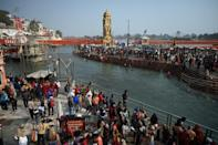 Hundreds of thousands flocked to the Kumbh Mela Hindu festival in January