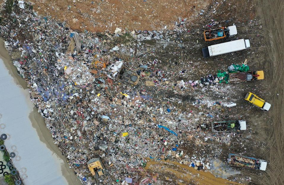 Each Hongkonger generated 1.49kg of trash a day in 2019, with the recycling rate hovering at around 30 per cent. (Above) The North East New Territories Landfill in Ta Kwu Ling. Photo: Winson Wong