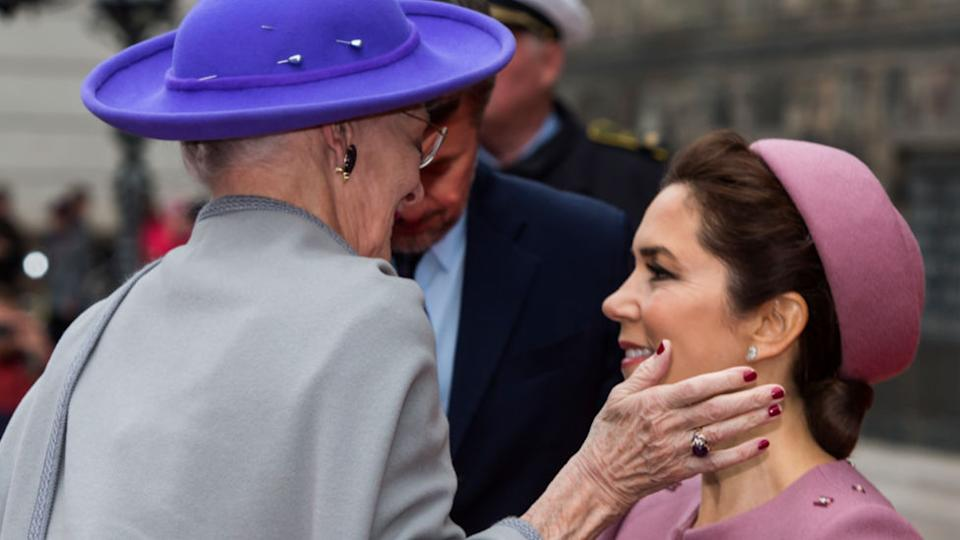 Princess Mary pictured with the Queen of Denmark
