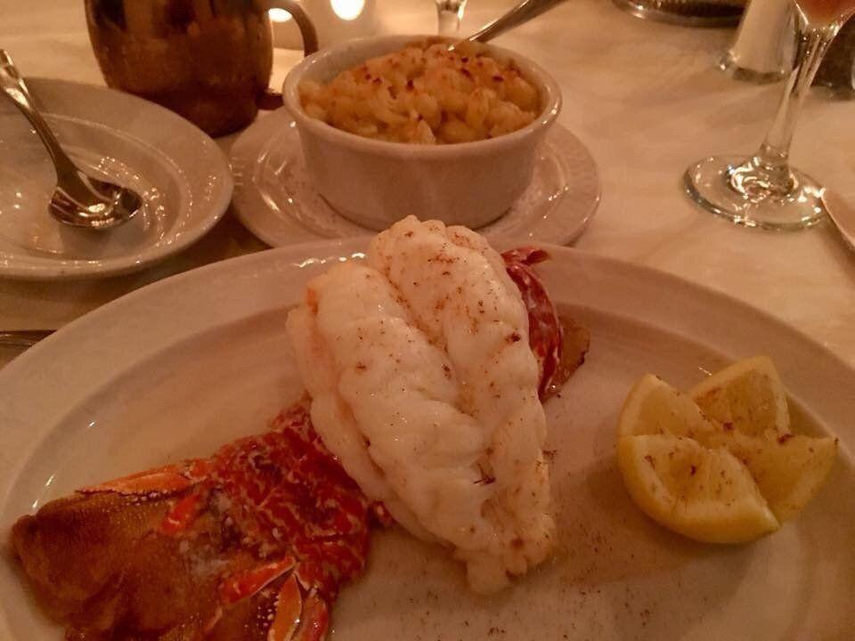 """<p><strong><a href=""""https://www.yelp.com/biz/laurys-restaurant-charleston"""" rel=""""nofollow noopener"""" target=""""_blank"""" data-ylk=""""slk:Laury's Restaurant"""" class=""""link rapid-noclick-resp"""">Laury's Restaurant</a>, Charleston</strong></p><p>""""I have never had anything from Laury's that I didn't like. The lobster tail is well worth $50. It's not cheap to eat here, but it is so worth it."""" — Yelp user <a href=""""https://www.yelp.com/user_details?userid=-XoKENo6NsOLRnQ7HpNxuA"""" rel=""""nofollow noopener"""" target=""""_blank"""" data-ylk=""""slk:Daniel L."""" class=""""link rapid-noclick-resp"""">Daniel L.</a></p><p>Photo: Yelp/<a href=""""https://www.yelp.com/user_details?userid=YmlQ1q_nEcBeewFglTU0ew"""" rel=""""nofollow noopener"""" target=""""_blank"""" data-ylk=""""slk:J E Smokey C."""" class=""""link rapid-noclick-resp"""">J E Smokey C.</a></p>"""