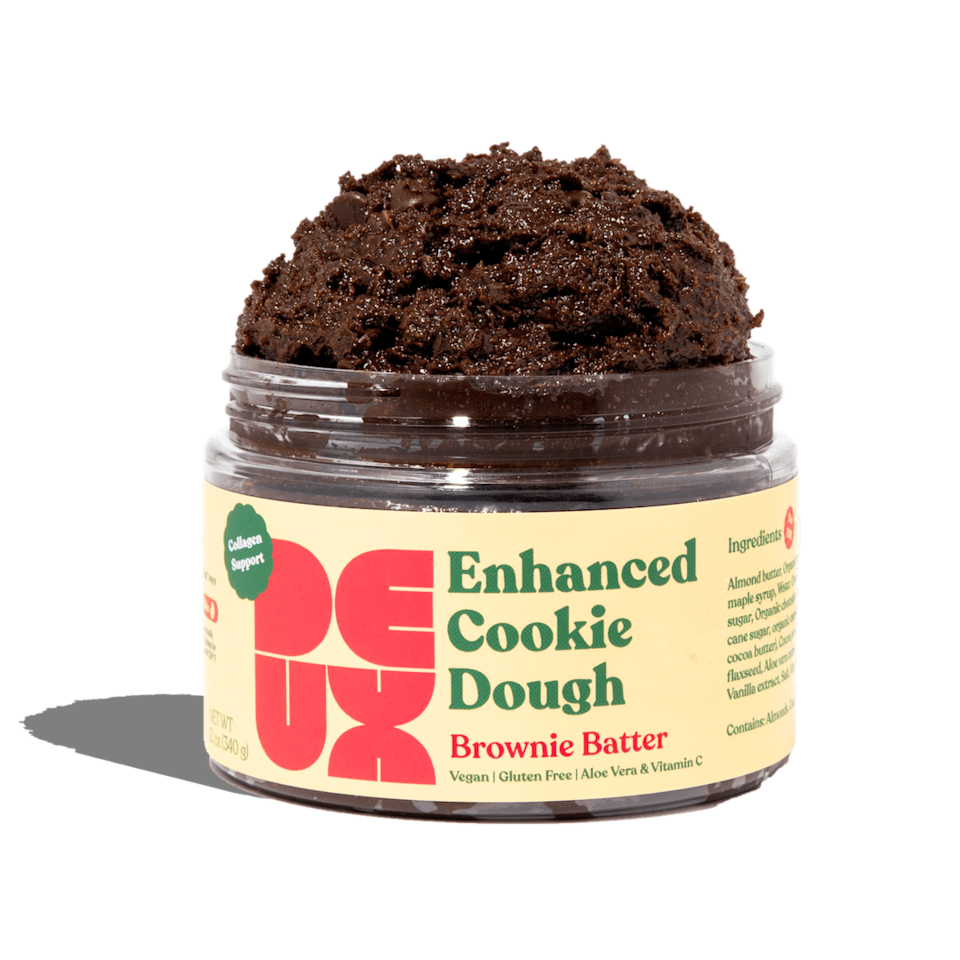 """<p>""""It's fall, which means I'm staying in more and going out less. You can find me on the couch with this edible <span>Deux Brownie Batter</span> ($15). It's gluten free and vegan, but you would never know that. I am obsessed with every single flavor, but the brownie batter has a special place in my heart."""" - IY</p>"""