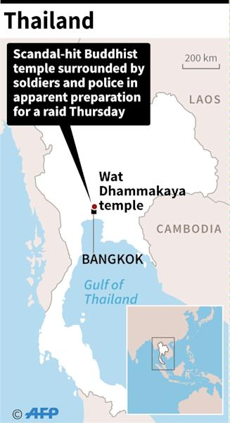 Map of Thailand locating Wat Dhammakaya temple (AFP Photo/AFP  )