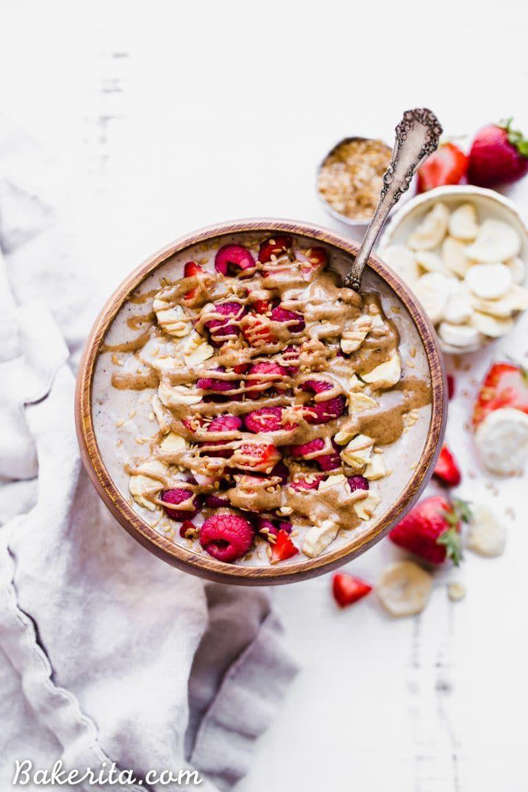 "<p>Wanna know a secret? There's a half cup of cauliflower in here!</p><p>Get the recipe from <a href=""https://www.bakerita.com/banana-date-smoothie-bowl-gluten-free-paleo-vegan/"" rel=""nofollow noopener"" target=""_blank"" data-ylk=""slk:Bakerita"" class=""link rapid-noclick-resp"">Bakerita</a>.<br></p>"
