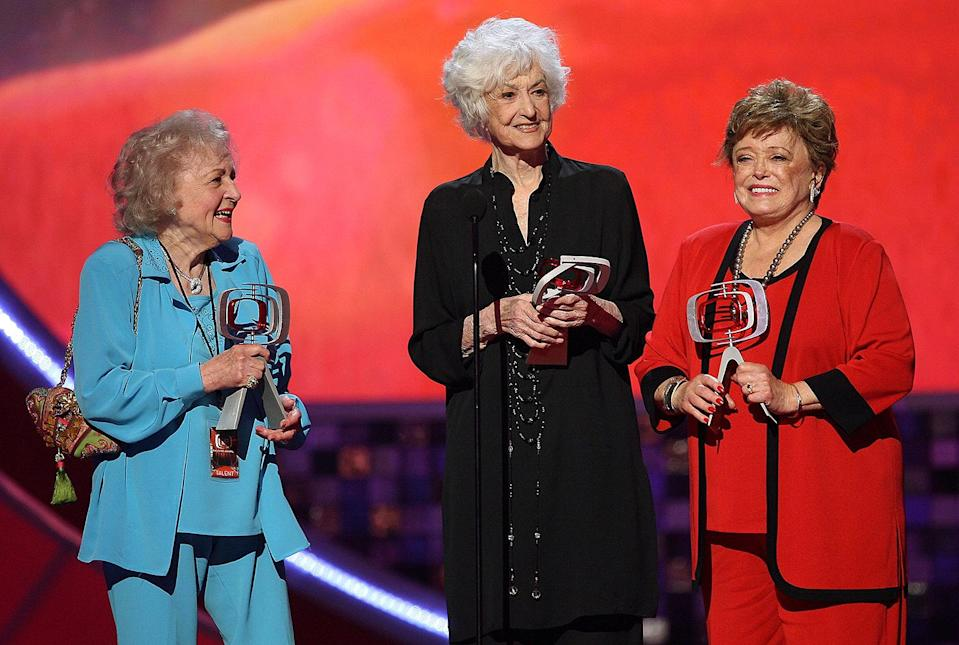 <p>In 2008, the living <em>Golden Girls</em> (White, Arthur and Rue McLanahan) reunited to accept the Pop Culture Award at the TV Land Awards Show. </p>