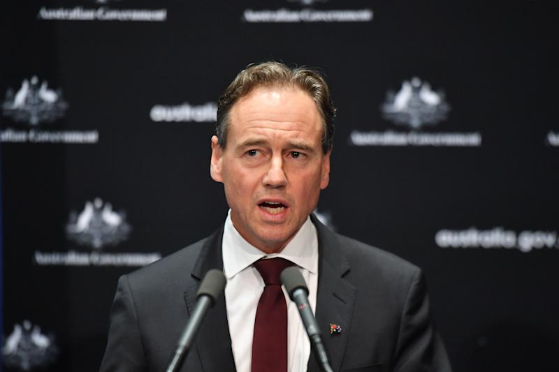 Greg Hunt hinted at restrictions being lifted earlier than expected if we continue to suppress the virus. Source: AAP
