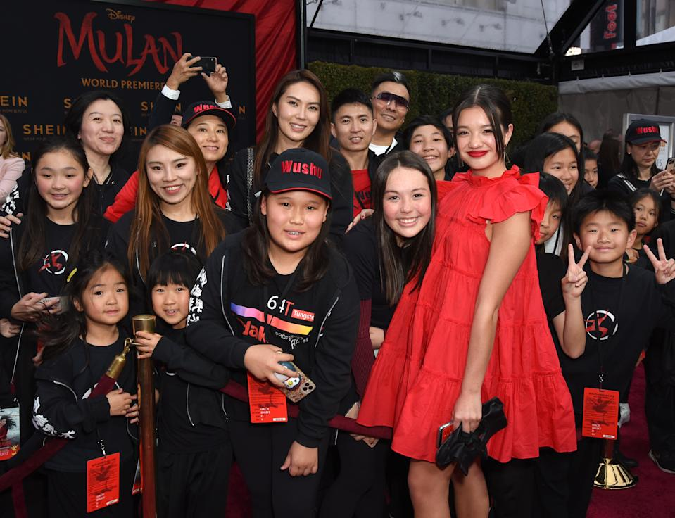 "HOLLYWOOD, CALIFORNIA - MARCH 09: Peyton Elizabeth Lee attends Disney's ""Mulan"" World Premiere - Red Carpet - Fan Pen at Dolby Theatre on March 09, 2020 in Hollywood, California. (Photo by Presley Ann/Getty Images for SHEIN)"