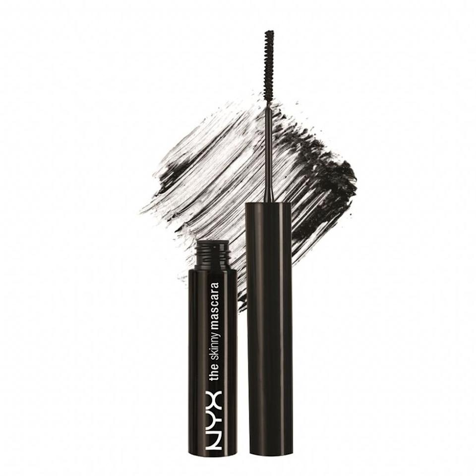 """<p>Skinny wands are ideal for coating every single hair—even those tiny, thin strands on the inner corners of your eyes. And with the help of the narrow brush, you can easily swipe mascara on your bottom lashes without making a mess. """"I like using this mascara specifically for clients that have straighter lashes,"""" makeup artist <a rel=""""nofollow"""" href=""""https://www.instagram.com/fayelaurenmakeup?hl=en&mbid=synd_yahoolifestyle"""">Faye Lauren</a> tells SELF.</p><p><b>Try it:</b> <a rel=""""nofollow"""" href=""""http://www.nyxcosmetics.com/the-skinny-mascara/NYX_183.html?mbid=synd_yahoolifestyle"""">NYX the Skinny Mascara</a>{: rel=nofollow}, $7</p>"""