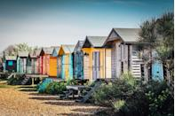 """<p>A perfect day at the seaside in Whitstable starts with a coffee at the Scandi-chic café <a href=""""http://blueprintcoffee.co.uk/"""" rel=""""nofollow noopener"""" target=""""_blank"""" data-ylk=""""slk:Blueprint"""" class=""""link rapid-noclick-resp"""">Blueprint</a> followed by a walk along the pebble beach where you can skim stones and take a dip. </p><p>We recommend planning lunch early, picking up some local seafood at the Lobster Shack (a former oyster-grading house) and shopping along Harbour Street and in Herne Bay for everything from bags and hats to beadwork and vinyl records. </p><p>There's also the Whitstable Coastal Trail (five miles) which starts at Whitstable Harbour and ends at Herne Bay Pier which is ideal for those wanting to walk off their lunch in the sunshine. </p><p><strong>Distance from London</strong>: 59.7 miles</p><p><strong>How to get there</strong>: London St Pancras International to Whitsable via <a href=""""https://www.thetrainline.com/train-times/london-to-whitstable"""" rel=""""nofollow noopener"""" target=""""_blank"""" data-ylk=""""slk:train"""" class=""""link rapid-noclick-resp"""">train</a> (1hr 14mins).</p>"""