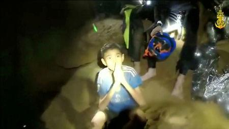 Thailand cave rescuers setting up internet, drain water