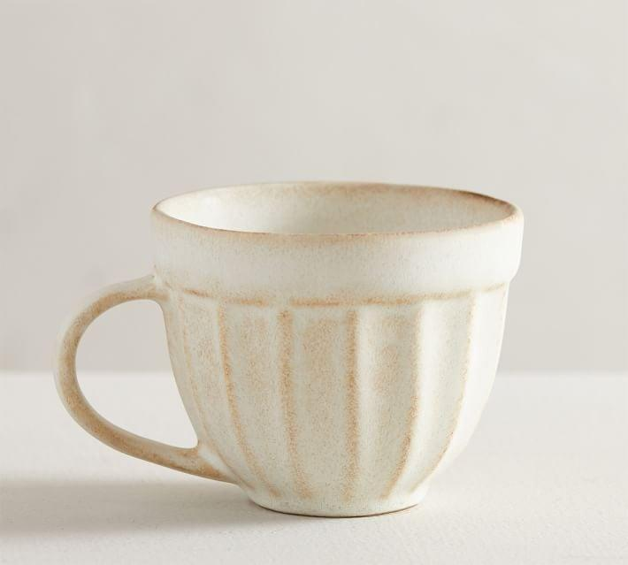 <p>A set of this <span>Mendocino Stoneware Mug</span> ($40 for four) will sure make for an elegant tea party, thanks to its rustic ceramic silhouette and the artisanal glaze finish. They are crafted in Portugal by expert ceramists, so each may have a unique look.</p>