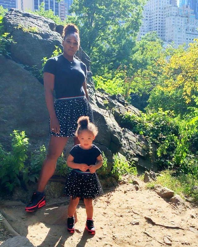 """<p>From their hairstyle down to their shoes, Williams matched her daughter to a tee in the Autumn of 2019, wearing the same tutu skirt, a similar black T-shirt and black and pink trainers.</p><p><a href=""""https://www.instagram.com/p/B2rJTzGHWS-/"""" rel=""""nofollow noopener"""" target=""""_blank"""" data-ylk=""""slk:See the original post on Instagram"""" class=""""link rapid-noclick-resp"""">See the original post on Instagram</a></p>"""