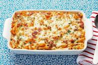 """<p>Enjoy this classic pasta bake with a side of buttery garlic bread for a simple, yet delicious, dinner.</p><p><strong><a href=""""https://www.thepioneerwoman.com/food-cooking/recipes/a11688/baked-ziti/"""" rel=""""nofollow noopener"""" target=""""_blank"""" data-ylk=""""slk:Get the recipe."""" class=""""link rapid-noclick-resp"""">Get the recipe.</a></strong></p><p><a class=""""link rapid-noclick-resp"""" href=""""https://go.redirectingat.com?id=74968X1596630&url=https%3A%2F%2Fwww.walmart.com%2Fsearch%2F%3Fquery%3Ddinnerware&sref=https%3A%2F%2Fwww.thepioneerwoman.com%2Ffood-cooking%2Fmeals-menus%2Fg31929060%2Feasy-casserole-recipes%2F"""" rel=""""nofollow noopener"""" target=""""_blank"""" data-ylk=""""slk:SHOP DINNERWARE"""">SHOP DINNERWARE</a></p>"""