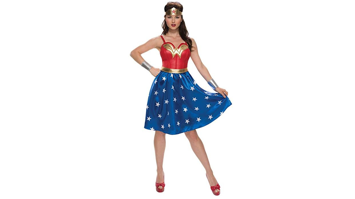 The stars on this skirt aren't quite true to the most recent iteration of Wonder Woman, but they're so cute we'll let it slide.