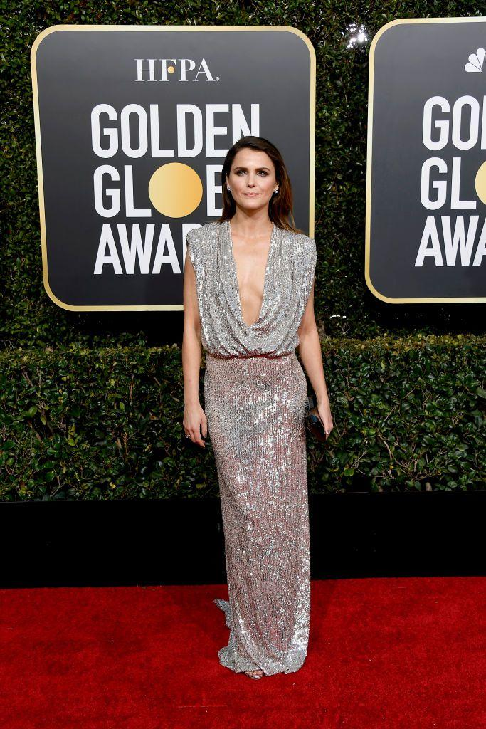Keri Russell S Plunging Neckline Dress At The Golden Globes Is Sexy