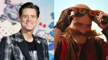 One of the joys of <em>Sonic the Hedgehog</em> was being able to see Jim Carrey break out his rubber-faced 90s charisma in a big way. As the villainous Dr Robotnik, he amped up his creepy darkness throughout and then, ultimately, embraced the aesthetic of the video games with a bald head, weird goggles and an enormous moustache. Presumably, the face fuzz wasn't his own. (Credit: P. Lehman/Barcroft Media/Getty/Paramount)