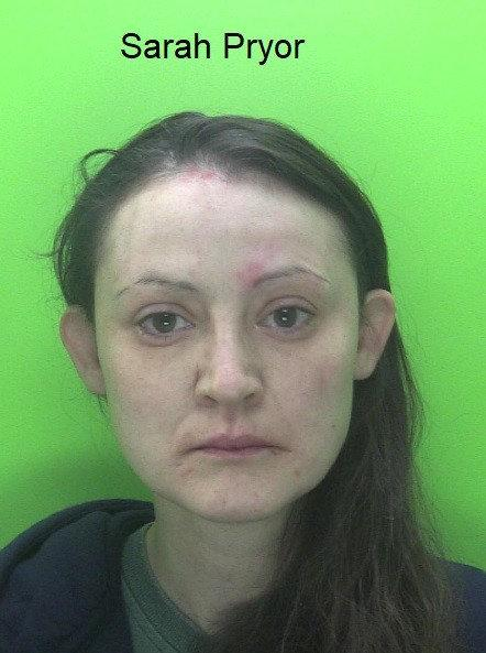 Sarah Pryor. See SWNS story SWMDsisters; Two women who assaulted four police officers after being challenged for breaching Covid-19 regulations have been sentenced to a combined total of ten months in prison. Police Constables Oivind Merrygold and David Hauton were carrying out regular patrols in Retford on Monday (27 April 2020) when they received a call about a disturbance in the Churchgate area at around 11.25pm. On attendance they recognised 34-year-old Danielle Pryor and 33-year-old Sarah Pryor, both of Lords Court in Retford, having spoken with them earlier in the evening about anti-social behaviour, warned them about the coronavirus restrictions and told them to go straight home.