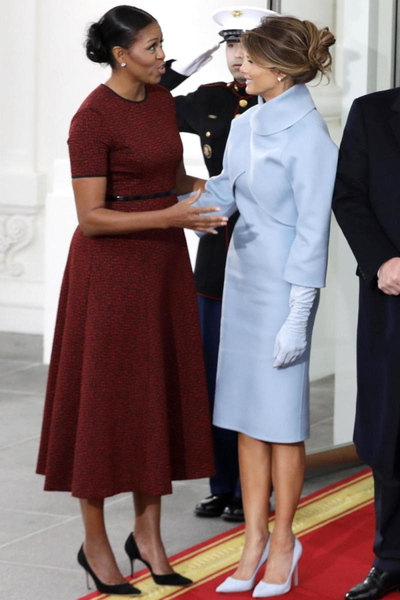 Melania wearing Ralph Lauren on the day of Donald Trump's Inauguration