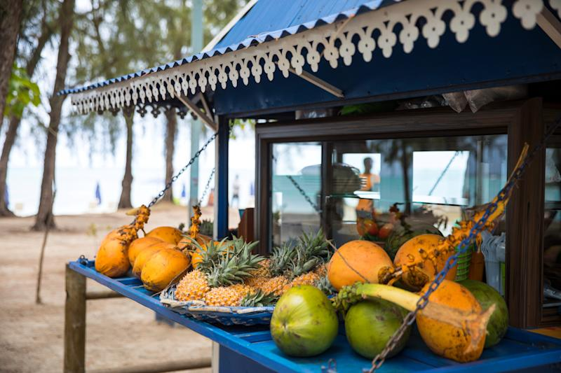 A snack stall by the beach in Mauritius - Credit: GETTY
