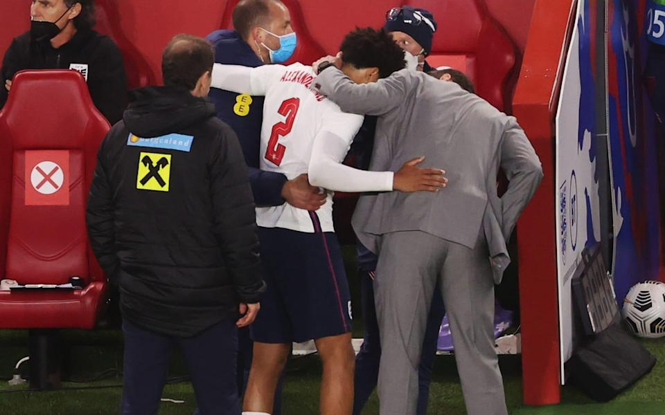 Gareth Southgate consoles Trent Alexander-Arnold - GETTY IMAGES