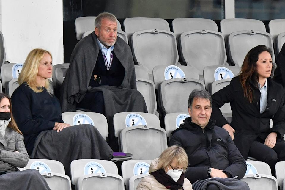 Blues owner Roman Abramovich attended the match in Sweden and visited the players at full-timeAP