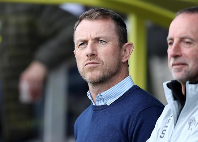"Soccer Football - Championship - Burton Albion vs Derby County - Pirelli Stadium, Burton-on-Trent, Britain - April 14, 2018 Derby County manager Gary Rowett Action Images/John Clifton EDITORIAL USE ONLY. No use with unauthorized audio, video, data, fixture lists, club/league logos or ""live"" services. Online in-match use limited to 75 images, no video emulation. No use in betting, games or single club/league/player publications. Please contact your account representative for further details."
