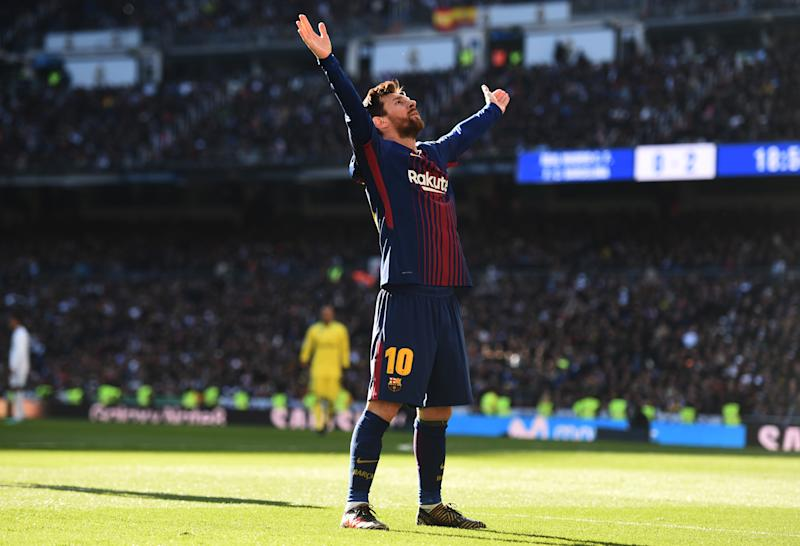 low priced e7cd6 a8f34 Real Madrid 0-3 Barcelona: Messi, Suarez win Clasico