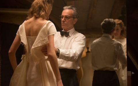 Vicky Krieps, left, and Daniel Day-Lewis appear in a scene from Phantom Thread - Credit: Laurie Sparham/Focus Features via AP