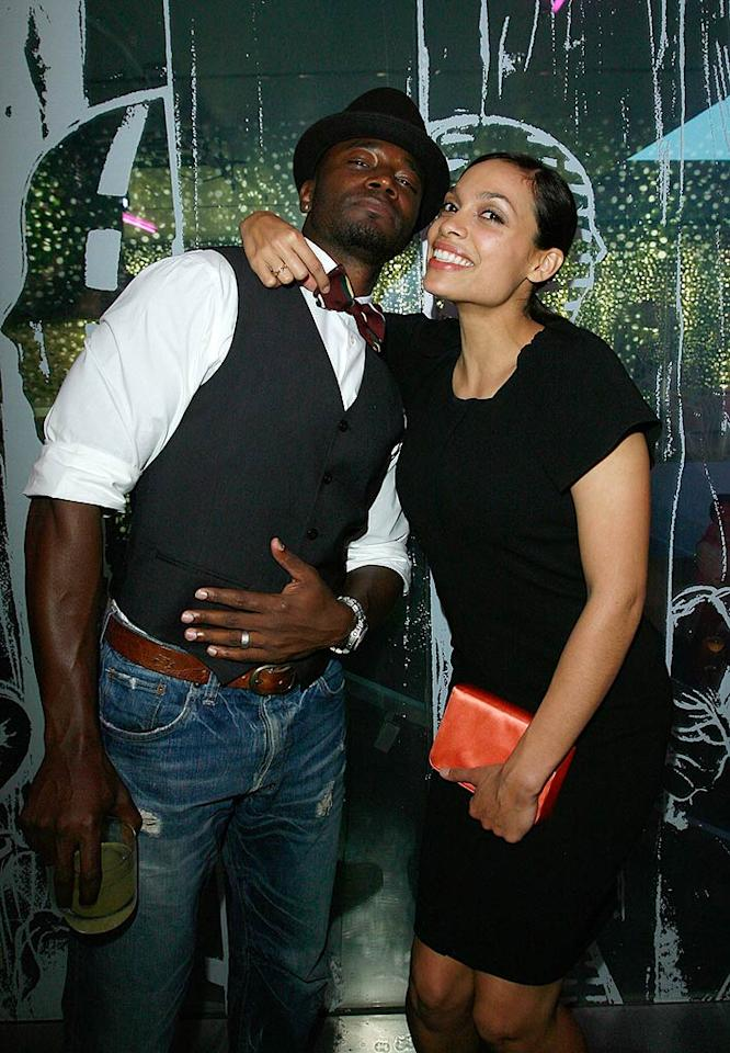 "Taye Diggs and Rosario Dawson party after attending a private screening of the animated short film ""Trembled Blossoms"" at the Prada store in Beverly Hills. Donato Sardella/<a href=""http://www.wireimage.com"" target=""new"">WireImage.com</a> - March 19, 2008"