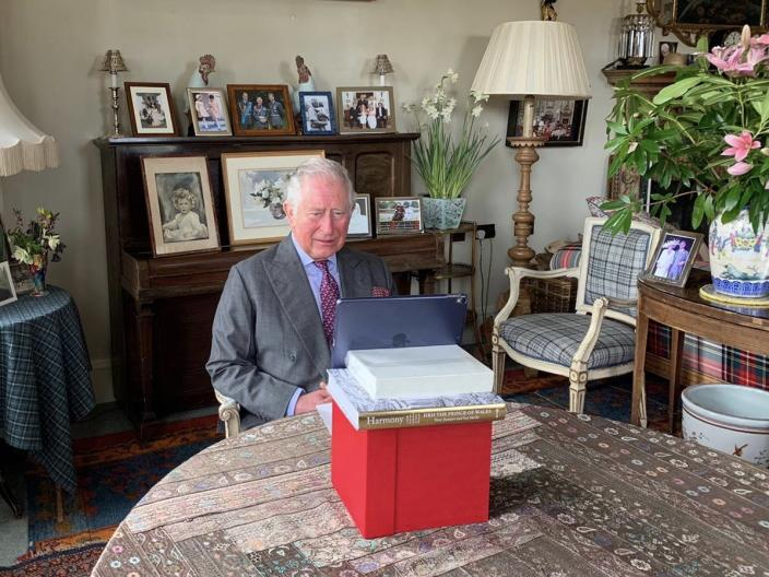 Eagle eyed fans spotted the picture on the top of the piano at Birkhall. (Clarence House)