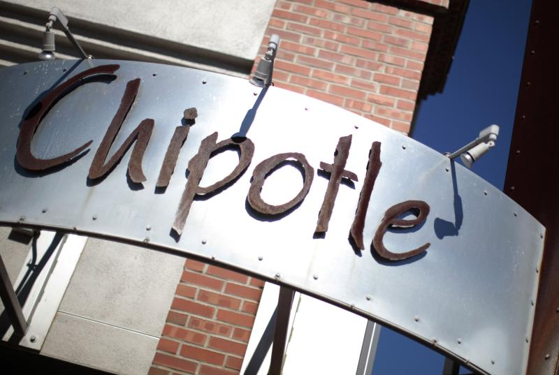 File photo of a sign of a Chipotle Mexican Grill restaurant in Redlands