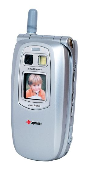 In 2002 the first flip-phones were introduced, including the Sanyo SCP-5300, which featured a low-quality camera as well.