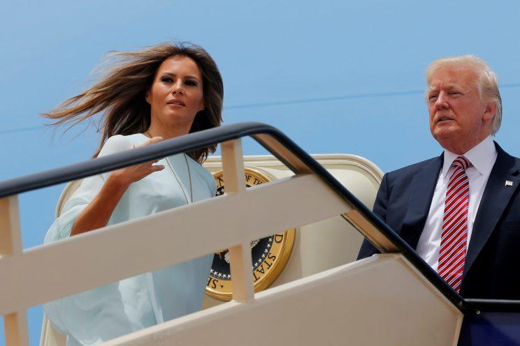 <i>The President and First Lady are currently on an international tour [Photo: Getty]</i>