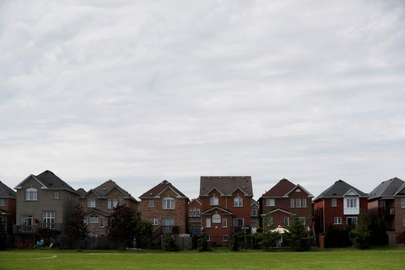 FILE PHOTO: Houses back onto a park in Toronto