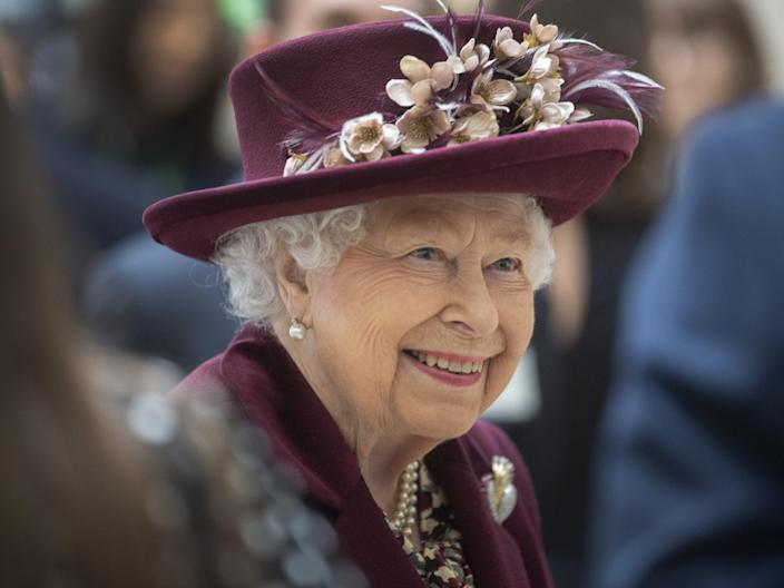 Queen Elizabeth II during a visit to the headquarters of MI5 at Thames House in London. (PA)